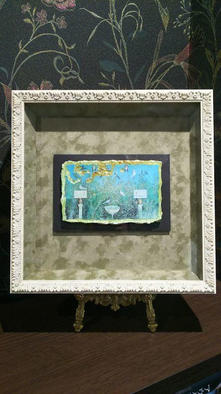 画像1: ポンペイで発見された庭園のフレスコ画 レプリカ品 額付き (1)