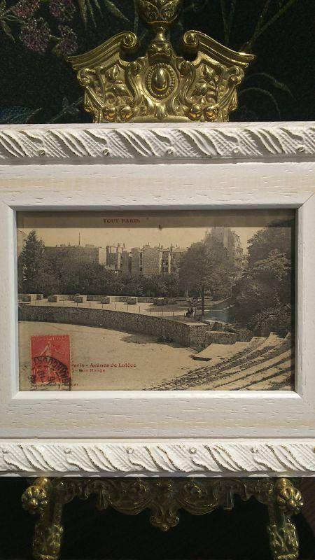 画像1: パリの古代円形劇場 アンティーク・ポストカード 額付き (1)