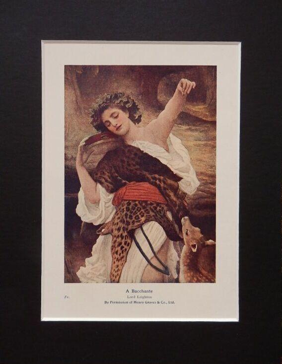 画像1: バッカンテ 版画 1913年 ディオニュソス信仰(バッカス神)の巫女 (1)