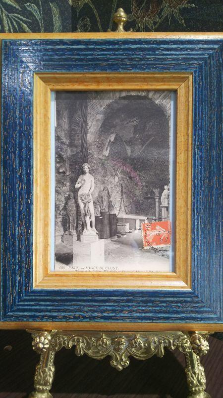 画像1: パリのユリアヌス帝の古代浴場跡(クリュニー中世美術館) アンティークポストカード 額付き (1)