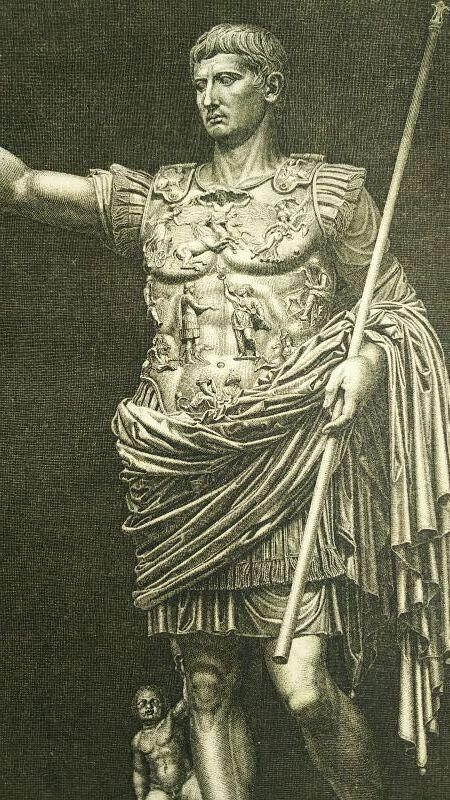 画像1: プリマポルタのアウグストゥスの版画 1890年頃 (1)
