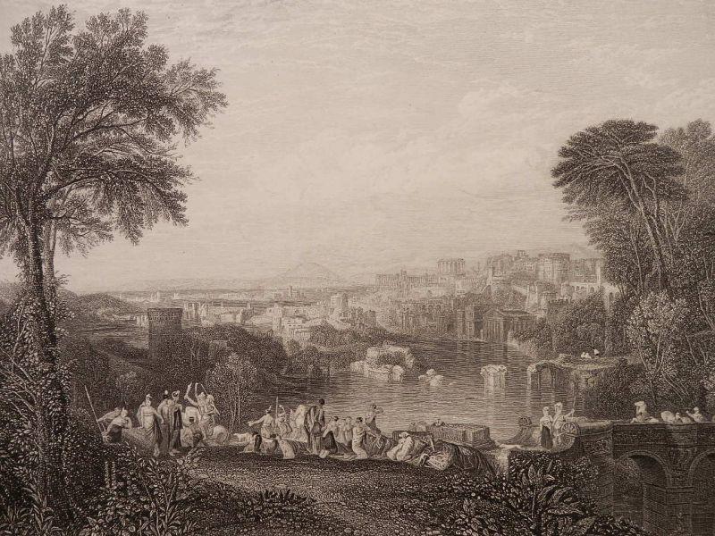 画像1: ディドとアエネイアス 1860年頃 版画 ターナー (1)