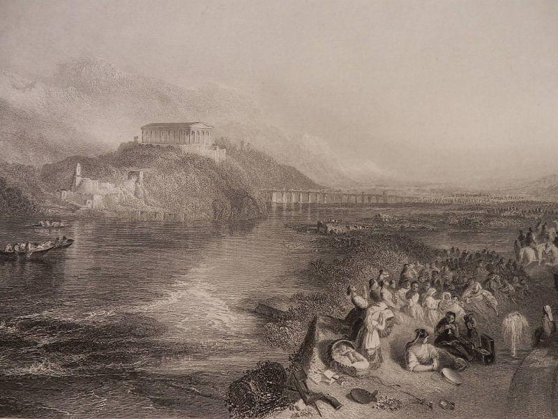 画像1: ヴァルハラ神殿 1860年頃 版画 ターナー (1)