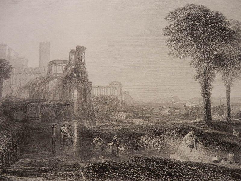 画像1: カリグラの宮殿と橋 1860年頃 版画 ターナー (1)