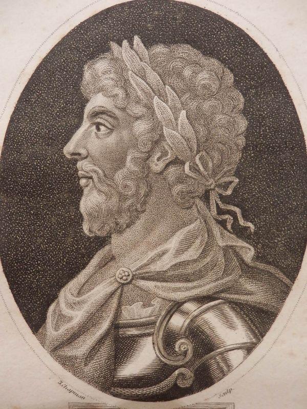 アントニヌス・ピウスの肖像 版画 1800年頃