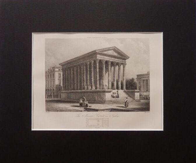 画像1: ニームのメゾン・カレ 版画 1890年頃 (1)