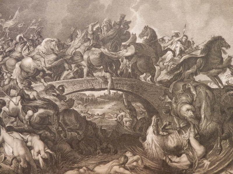 画像1: アマゾネス族の戦い 版画 ルーベンス 1890年頃 (1)