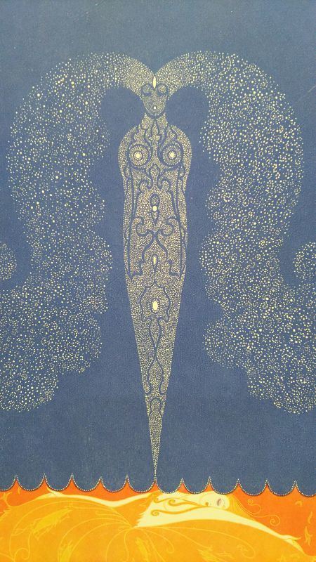 眠りにつくペルセポネ 冬のカーテン 版画 1920年頃 エルテ