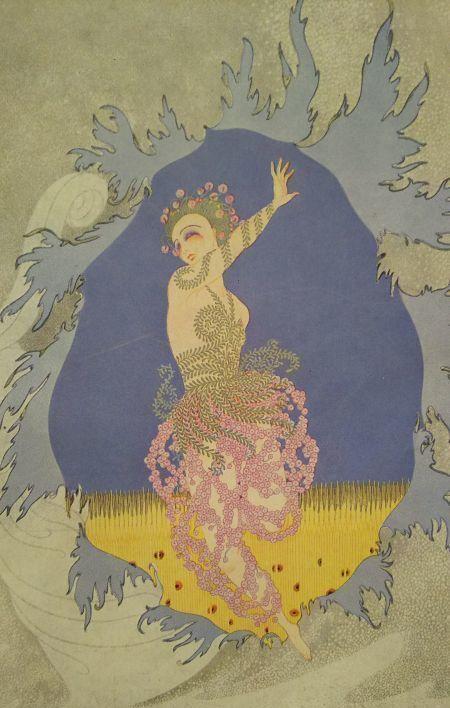 ペルセポネ 春の到来 版画 1920年頃 エルテ