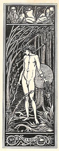 ペルセウス 版画 オーブリ―・ビアズリー 1900年