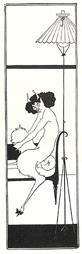 画像1: 踊るファウヌス  ギリシャ神話 版画 オーブリ―・ビアズリー  1900年 (1)