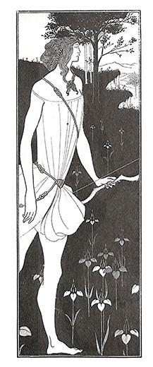 アタランテ ギリシャ神話 版画 オーブリ―・ビアズリー 1900年