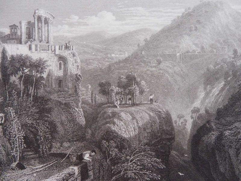 ティヴォリのウェスタ神殿 版画 1840年頃