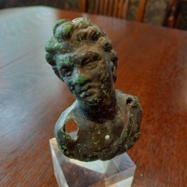 古代ローマ時代 サテュロス 小型ブロンズ像 2-3世紀頃